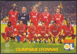FOOTBALL-OLIMPIQUE LYONNAIS-OLD RUSSIAN CARD - Soccer