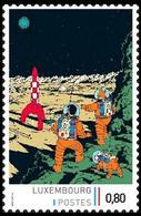 Timbre Privé** - Kuifje/Tintin - Milou/Bobbie - Haddock - On A Marché Sur La Lune/Mannen Op De Maan/Männer Auf Dem Mond - Stripsverhalen