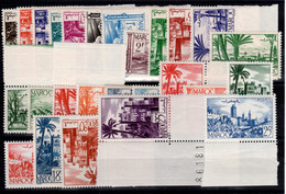 Maroc - YV 246 à 265A N** Luxe Complète Cote 18+ Euros - Unused Stamps
