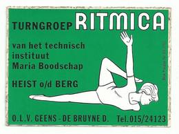 Sticker - Turngroep RITMICA - Heist O/d Berg - Autocollants