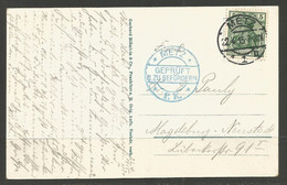 GERMANY. WW1. 1915. CARD. METZ POSTMARK & BLUE CENSOR - Cartas