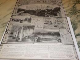 ANCIENNE PUBLICITE HOTEL REGINA A NICE 1906 - Other