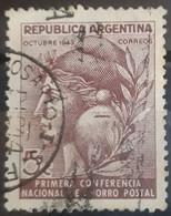 ARGENTINA 1943 Postal Saving Banks Conference. USADO - USED - Gebruikt