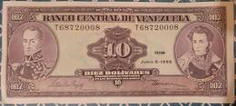 Venezuela 10 Bolivares 5/6/1995 - Venezuela