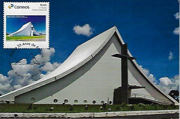 Brazil 2015 Maximum Card With Personalized Stamp RHM-PB-15Queen Of Peace Cathedral In Brasilia - Chiese E Cattedrali