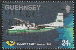 Guernsey SG646 1994 25 Years Postal Administration 24p Good/fine Used [39/31885A/25D] - Guernesey
