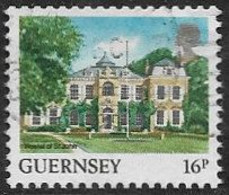 Guernsey SG399a 1988 Coil Stamp 16p Good/fine Used [39/31887A/25D] - Guernesey
