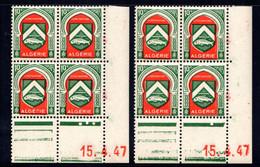 ALGÉRIE YT-N°: 254 - Blason De CONSTANTINE, Coin Daté Du 15.04.1947, Galvano A+B, 1er Tirage, NSC/**/MNH - Nuovi