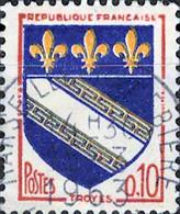 2907 Mi.Nr.1353 Frankreich (1963) Wappen Gestempelt - Usati