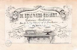 Litho De Brauwere-Hasaert Patissier Confiseur - Kortrijk Courtrai - 4.5 X 8 Cm - Kortrijk