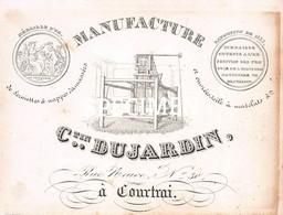 Litho Manufacture De Serviettes Et Nappes Dujardin - Kortrijk Courtrai - 7 X 9 Cm - Kortrijk