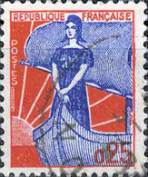 2965 Mi.Nr.1234 Frankreich (1960) Marianne Im Boot Gestempelt - Usati