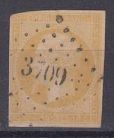 FRANCE CLASSIQUE : EMPIRE N° 13Aa JAUNE CITRON OBLITERATION PC 3709 SMYRNE - 1853-1860 Napoleone III