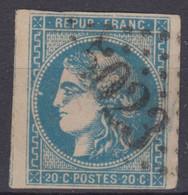 FRANCE CLASSIQUE : BORDEAUX N° 46B JOLIE OBLITERATION GC 5023 CONSTANTINE ALGERIE - 1870 Emissione Di Bordeaux