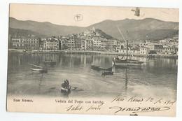 Italie San Remo Veduta Del Porto Con Barche Animée - Andere