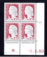 YT-N°: 1263 - DECARIS, Coin Daté Du 01.06.1960, Galvano B De A+B, 1er Tirage, NSC/**/MNH - 1960-1969