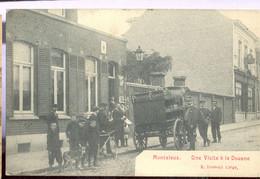 Cpa Montaleux  Douane   Attelage   1910 - Mouscron - Moeskroen