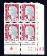 YT-N°: 1263 - DECARIS, Coin Daté Du 25.07.1960, Galvano J De I+J, 1er Tirage, NSC/**/MNH - 1960-1969