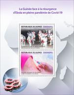GUINEA 2021 - Ebola, COVID-19 S/S. Official Issue [GU210260b] - Enfermedades
