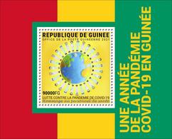 GUINEA 2021 - COVID-19 In Guinea S/S. Official Issue [GU210261b] - Enfermedades