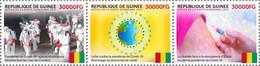 GUINEA 2021 - COVID-19 In Guinea, 3v. Official Issue [GU210261a+] - Enfermedades