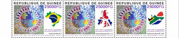 GUINEA 2021 - COVID-19 Variants, 3v. Official Issue [GU210264a+] - Enfermedades