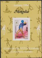Olympics 1996 - Gymnastics - Basketball - Fencing - MONGOLIA - S/S Imp. MNH - Verano 1996: Atlanta