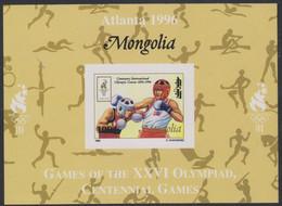Olympics 1996 - Boxing - Basketball - Fencing - Weightlifting - MONGOLIA - S/S Imp. MNH - Verano 1996: Atlanta