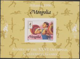 Olympics 1996 - Weightlifting - Judo - Cycling - MONGOLIA - S/S Imp. MNH - Verano 1996: Atlanta