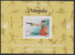 Olympics 1996 - Shooting - Basketball - Cycling - MONGOLIA - S/S Imp. MNH - Verano 1996: Atlanta