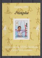 Olympics 1996 - Archery - MONGOLIA - S/S Imp. MNH - Verano 1996: Atlanta