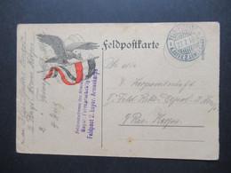 FP 1.WK FP Adresse Des Abs: Bayer Fernsprechabtlg. 2 Feldpost 2, Bayer. Armeekorps Bild Des Reichsadlers - Cartas