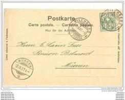 51 - 4 - Carte Envoyée De Kilchberg à Mürren 1907 - Covers & Documents