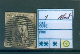 1 Obl Alost Côte 90€ - 1849 Epaulettes