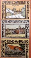 GERMANY :  3 X NOTGELD GOLDAP OSTPR 25-75-100  PFENNIG 1921 - [11] Emissions Locales