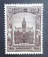 BELGIE  1936     Nr. 436   Zegel Uit Blok 5    Postfris **    CW 60,00 - Nuovi