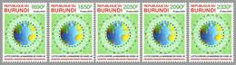 BURUNDI 2021 - COVID-19 Healthcare Personnel, 5v. Official Issue [BUR2102a] - Enfermedades