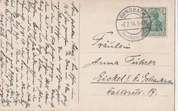 Deutsches Reich Karte Mit Tagesstempel Ransbach Kr Hersfeld 1914 Ge Hohenroda Lk Hersfeld Rotenburg - Cartas