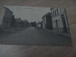 Mouscron Dottignies La Rue De Roubaix  Année 1909 (timbre) - Mouscron - Moeskroen