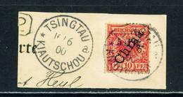KIAOCHOW  - 1898 Reichspost Definitive 10pf Used As Scan - On Piece - Colonie: Kiautchou