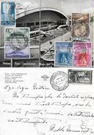 CARTOLINA FIERA DI MILANO CON BELLA AFFRANCATURA MISTA VIAGGIATA 12.04.1951 - M101 - 1946-60: Marcofilie