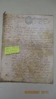 TOURS / PARCHEMIN / 18 Nov. 1783 / Acte Notarié - Seals Of Generality