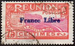 Réunion Obl. N° 188 - Site - Vue De La Rade De Saint Denis - 75c Rouge Et Lilas-rose Surchargé France Libre - Gebruikt