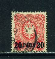 GERMAN PO'S IN TURKEY  - 1884 Deutches Reich Post Definitive 20p On 10pf Used As Scan - Offices: Turkish Empire