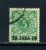 GERMAN PO'S IN TURKEY  - 1889  Reichspost Definitive 10p On 5pf Used As Scan - Offices: Turkish Empire