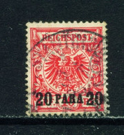 GERMAN PO'S IN TURKEY  - 1889  Reichspost Definitive 20p On 10pf Used As Scan - Offices: Turkish Empire