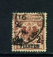 GERMAN PO'S IN TURKEY  - 1889  Reichspost Definitive 21/2p On 50pf Used As Scan - Offices: Turkish Empire
