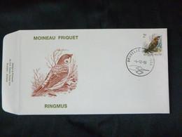 BELG.1989 2347 (Bruxs): FDC 2 F Ringmus - Moineau Friquet - Bird - Buzin - 1981-90