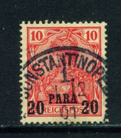 GERMAN PO'S IN TURKEY  - 1900 Germania  Reichspost Definitive 20p On 10pf Used As Scan - Offices: Turkish Empire