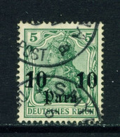 GERMAN PO'S IN TURKEY  - 1905-12 Germania Deutches Reich Definitive 10p On 5pf Used As Scan - Offices: Turkish Empire